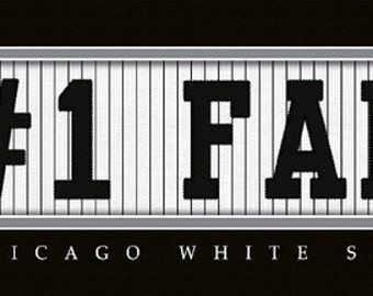 Chicago White Sox-Free Shipping-#1 DAD or #1 FAN Jersey Stitch Framed Print-MLB