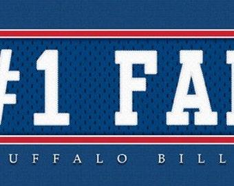 Buffalo Bills-Free Shipping-#1 DAD or #1 FAN Jersey Stitch Framed Print-NFL