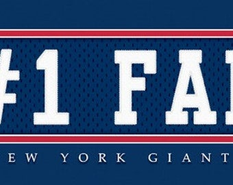 New York Giants-Free Shipping-#1 DAD or #1 FAN Jersey Stitch Framed Print-NFL