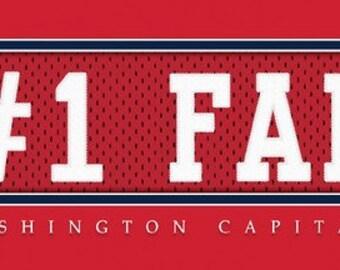 Washington Capitals-Free Shipping-#1 DAD or #1 FAN Jersey Stitch Framed Print-NHL