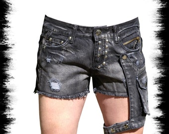 sexy lady shorts with holster, put bag