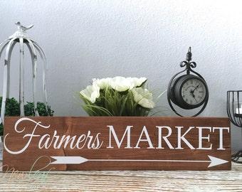 Farmers Market Sign - Farmers Market - Farmhouse Decor - Handpainted Signs - Kitchen Decor - Gallery Wall Art - Housewarming Gift