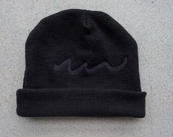 Unisex Hand knitted  black beanie