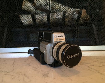 Vintage Canon Super 8 Camera - Auto Zoom Electronic 814 w/ Original Box - Cinematic Icon