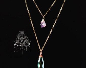 Crystal tier necklace pre-order