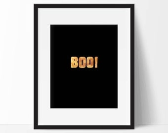 Halloween Printables, Boo Print Halloween Decoration, Boo Sign, Instant Download Halloween Party Sign, Halloween Wall Art, Home Decor