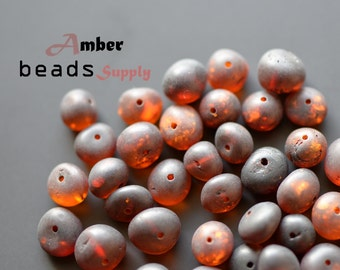 Baltic amber beads, Jewelry making beads, Baroque amber, Raw amber, Drilled beads, #5842