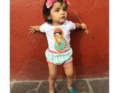 Frida Kahlo baby onesie - Sweet Texas Treasures - frida kahlo baby, frida baby, feminist kid, unisex baby shower gift, gender neutral, frida