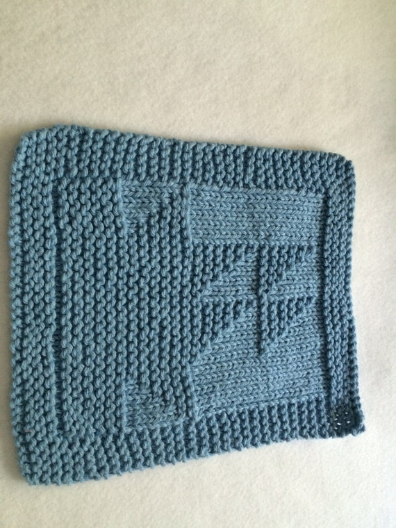 Knitted Cotton Dish Towel Pattern : 1 Hand Knitted 100% Cotton Dish Cloth / Wash Cloth