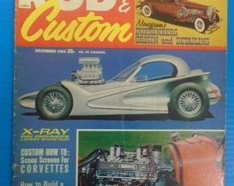 ROD & CUSTOM Magazine December 1963...Craig Breedlove...Modelrama...Green Pages!