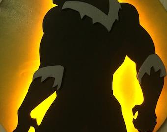 Marvel's Black Panther Illuminated Wall Display