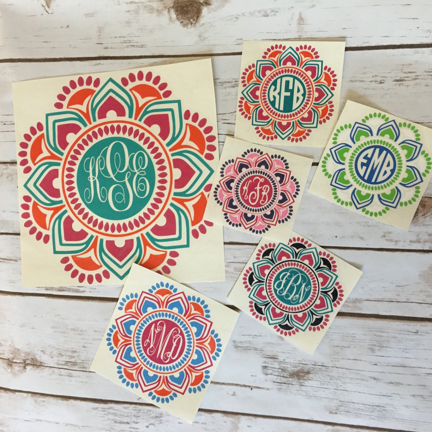 Car Monogram Stickers Excellent Lilly Pulitzer Inspired Flower - Cute monogram car decals