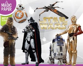 Star Wars VII Clipart - Digital 300 DPI PNG Images, Photos, Scrapbook, Digital, Cliparts - Instant Download