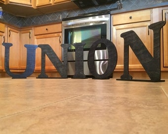 Stand up letters etsy for Standing wood letters to paint