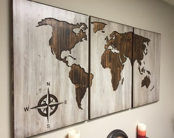 Custom Carved World Maps And Handmade Home Decor By Howdyowl