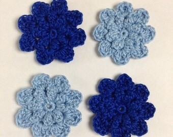 Crocheted Flowers  - set of 4 (#02-07)