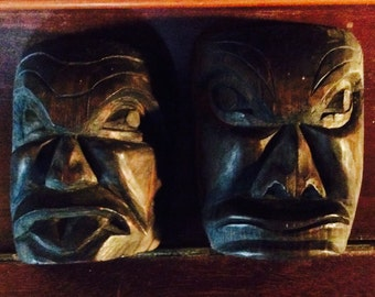 Cowichan Hand Carved Masks