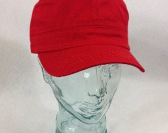 Blank Red Cadet Hat