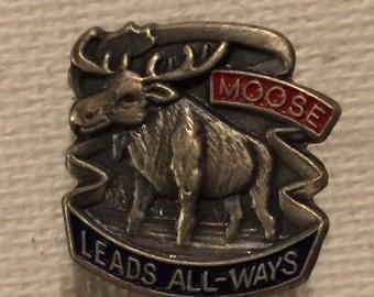 Moose Lodge Pin