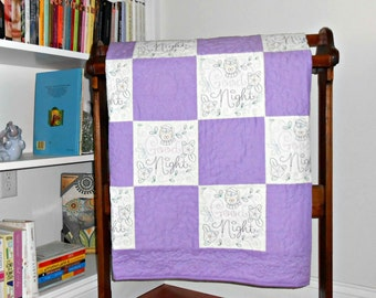 Etsy :: Your place to buy and sell all things handmade : purple and white quilt - Adamdwight.com