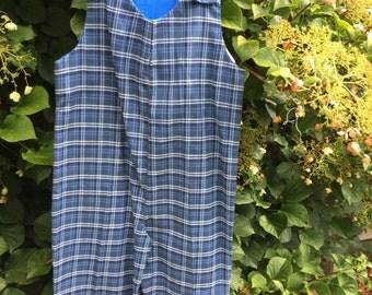 Blue Plaid JonJon Size 4