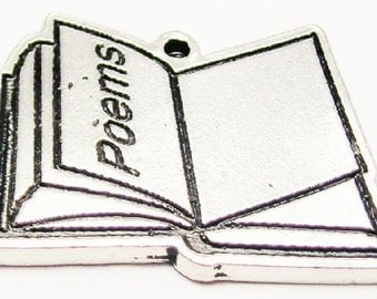 American Pewter Book Of Poems Charm