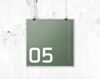 Minimal Multiannual Calendar - B4