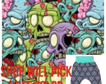 Zombie Brain Harem Pants