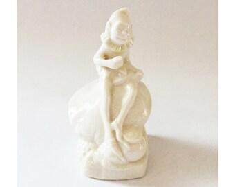 Belleek Leprechaun Figurine Irish China Parian China