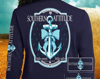 Country Life Anchor tee Long Sleeve NEW