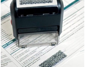 Self-Inking ID Protection Stamp