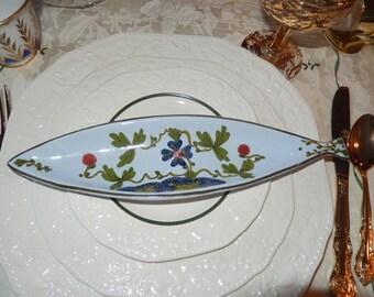 ITALY LA VECCHIA Faenza Olive Oil Dish