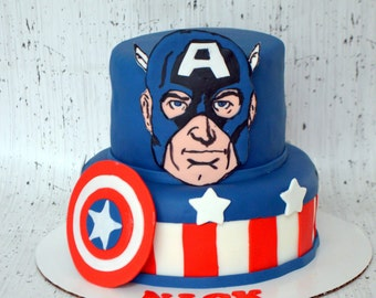 Captain America Cake Decorating Kit