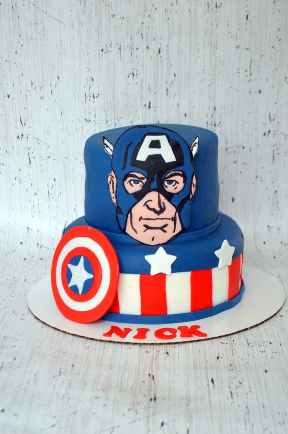 Cake Decor Kit : Captain America Cake Decorating Kit