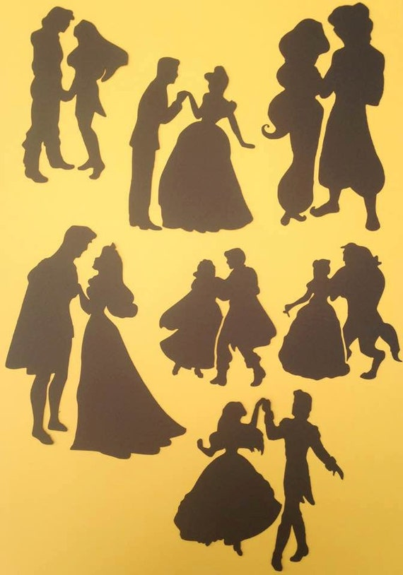 Disney Princess Amp Prince Stencil Silhouette Girls Paint Craft