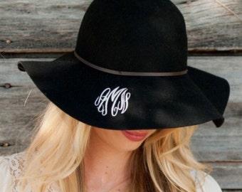 Monogram Wool Floppy Hat