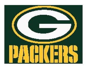 Green Bay Packers inspired crochet graph, green bay, packers, graph, crochet graph, packers graph, packers blanket,  packers throw