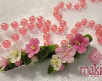 Сherry blossoms, hair clip, berries hair clip, hair accessory, wedding hair clip, sakura clip, spring flowers