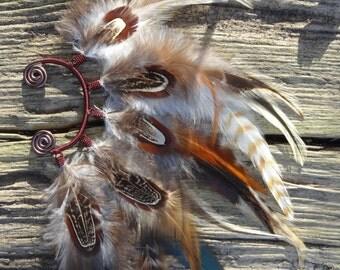 """Ear tour """"natural pheasant"""""""