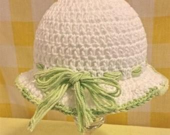 Hat crochet Hat baby girl sun hat with ties