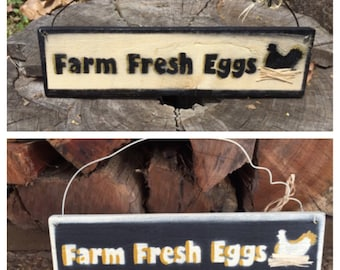 Farm Fresh Eggs Sign, Chicken Sign, Home decor sign