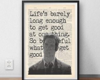 True Detective tv series quote poster art
