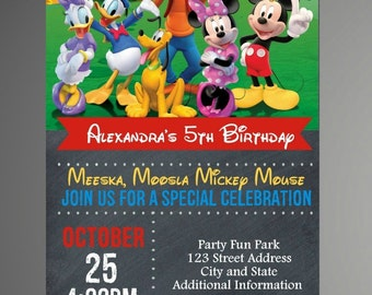 EDITABLE TEXT Mickey Mouse Birthday Invitation - Mickey Mouse Birthday Invites -  Mickey Mouse Birthday Invite -Instant Download