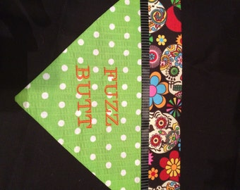 Fuzz butt dog bandana size medium