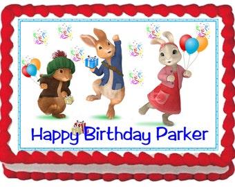 Peter Rabbit Cake Topper Decoration