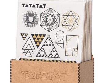 TATATAT temporary tattoos - Klebetattoos.  Triangles and forms set by D.Bizer