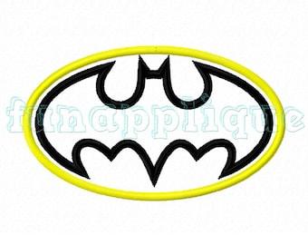 cute batman Applique design for Machine Embroidery instant download 3 sizes