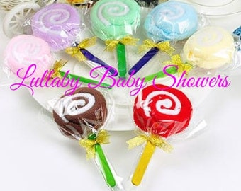 12 Count Washcloth Lollipops