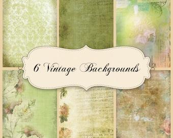 6 ephemera Vintage Digital Paper Vol. 3 Shabby Chic Fotohintergründe für Fotografen Download