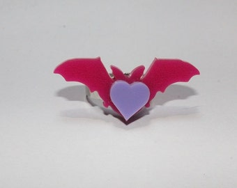 Batty Heart Ring